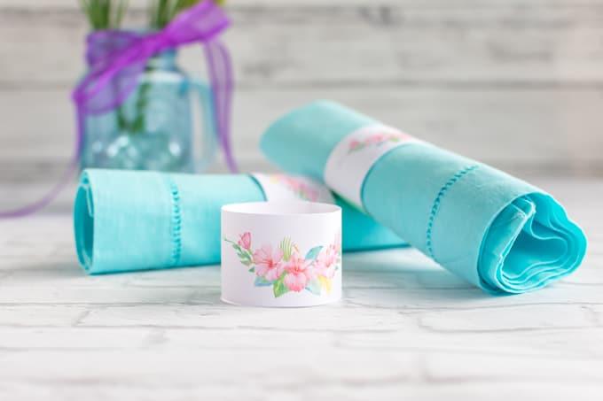 DIY Wedding Floral Paper Napkin Rings Tutorial Amp Printable