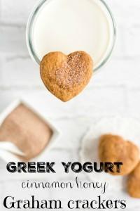 """Homemade Cinnamon Honey """"Graham"""" Crackers with Greek Yogurt Recipe"""
