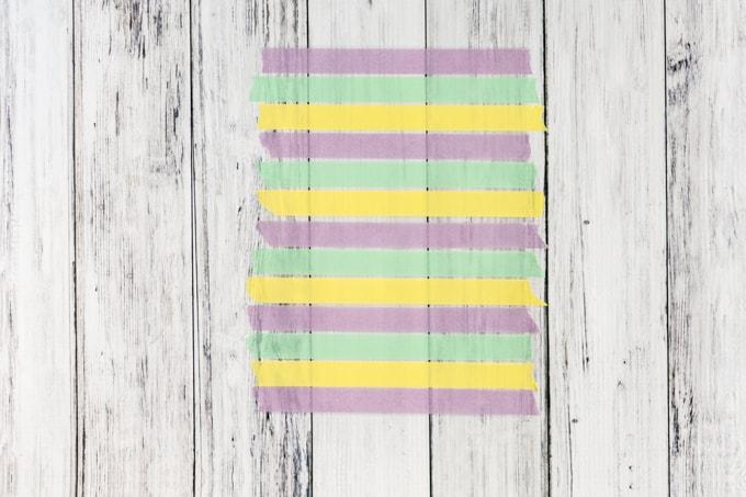sheet of washi tape