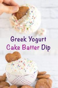 Greek yogurt cake batter dip - no cake mix healthy cake batter dip