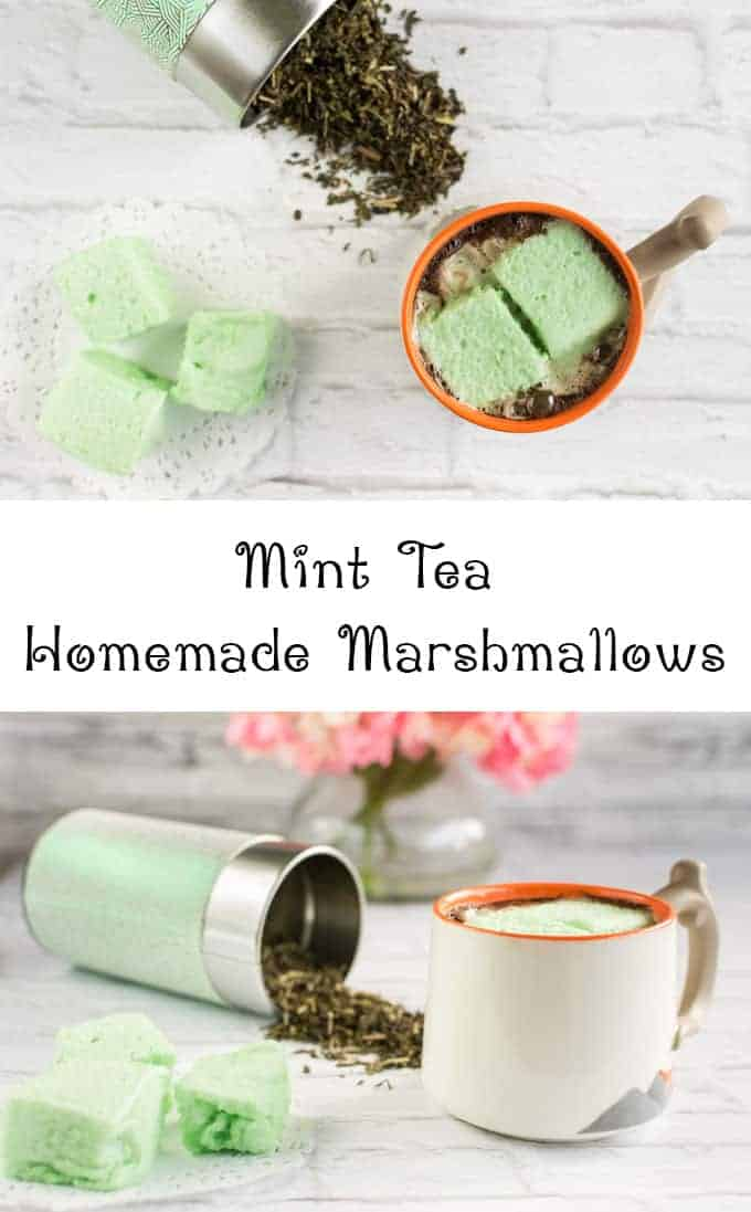 Mint Tea Homemade Marshmallows Recipe
