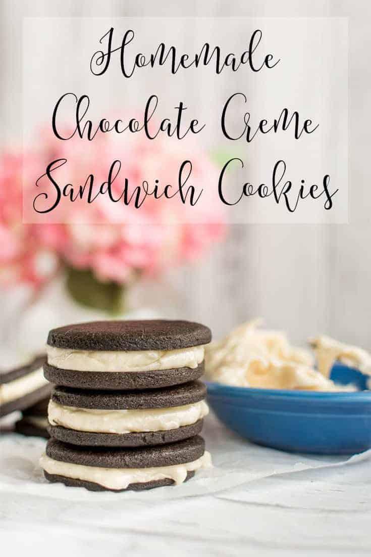 Homemade Chocolate Creme Sandwich Cookies
