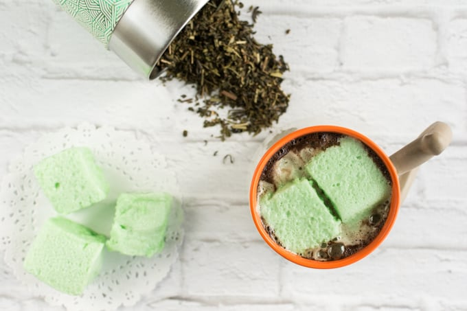 mint tea homemade marshmallows