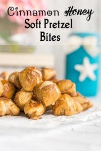 Honey Cinnamon Soft Pretzel Bites Recipe