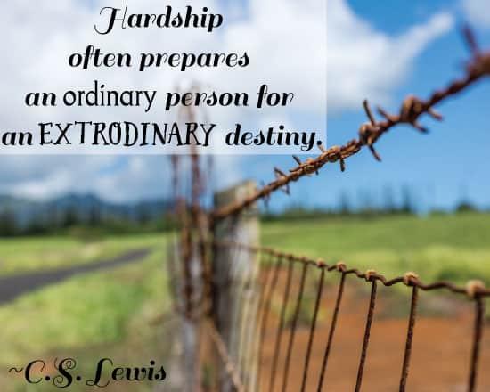 Hardship often prepares an ordinary person - motivational Monday free printable