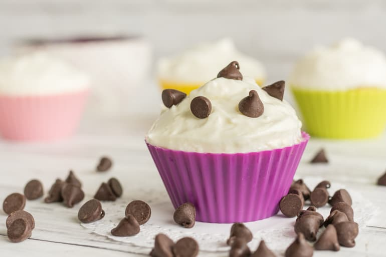 small batch chocolate chip cupcakes