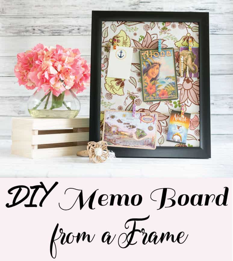 DIY Memo Board from a Frame