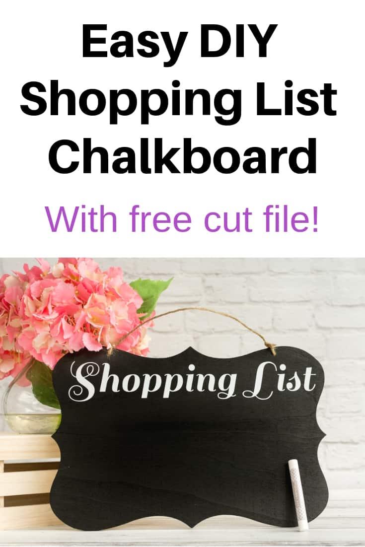 Easy DIY Shopping List Chalkboard