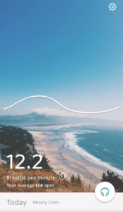 Screenshot of Spire app breath wave