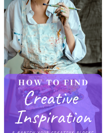 How to Find Creative Inspiration - with free printable worksheet!