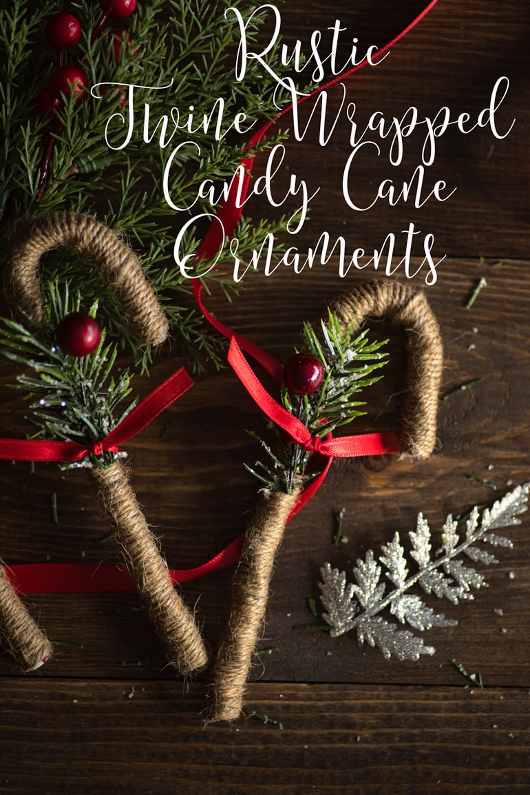 Rustic Twine Candy Cane Ornaments The Artisan Life