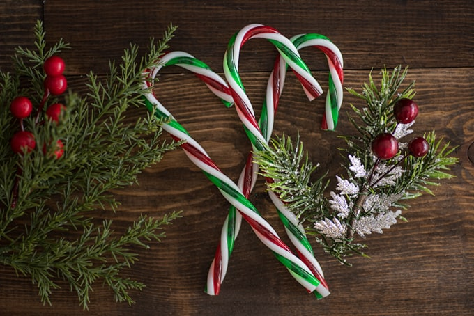 plastic candy canes