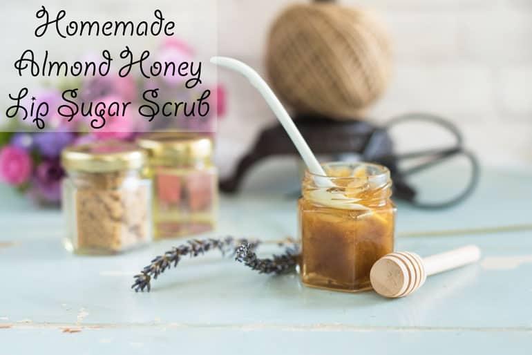Homemade Honey Almond Lip Sugar Scrub Recipe