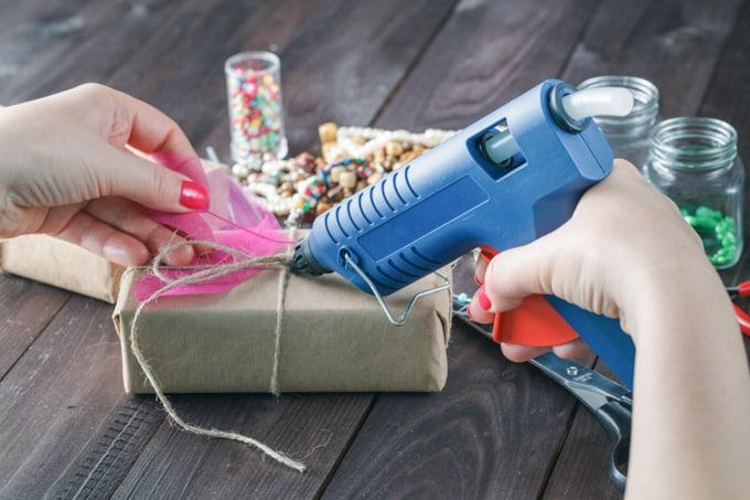 hot glue tips - use glue gun at correct distance