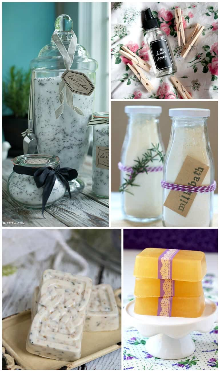 lavender self-care crafts roundup - 35+ lavender crafts, self-care DIYs, and recipes!
