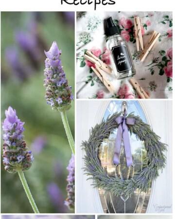 Ultimate Lavender Crafts Roundup - 35+ lavender self-care DIYs, crafts, recipes, and more!!!