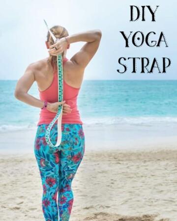 DIY yoga strap tutorial