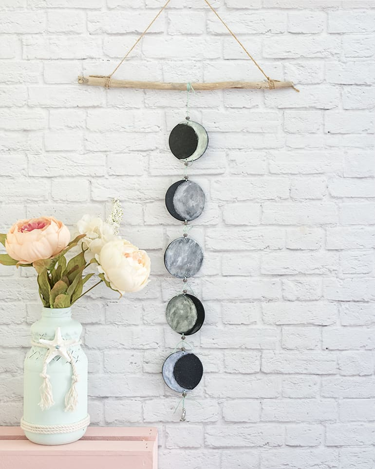 Diy Moon Calendar : Polymer clay phases of the moon mobile tutorial diy