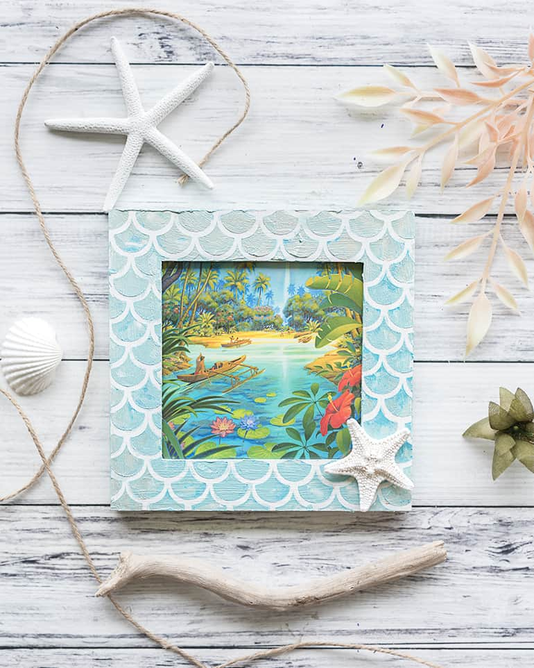 make your own mermaid picture frame