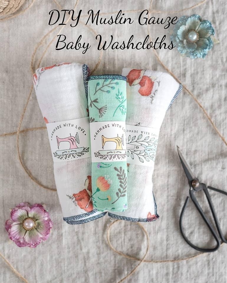 DIY Muslin Gauze Baby Washcloth Tutorial