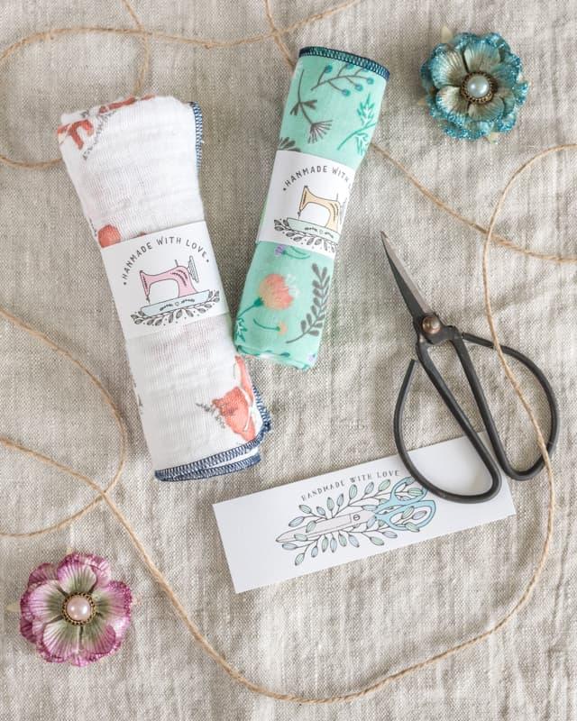 DIY simple baby washcloths tutorial