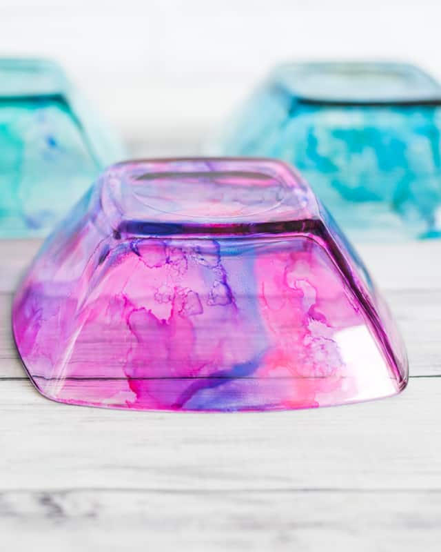 food safe dishes with alcohol inks