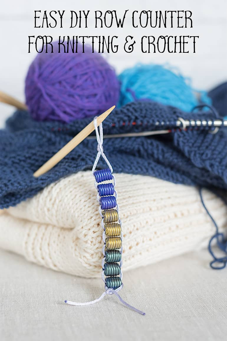 Super Easy Diy Row Counter For Knitting And Crochet The