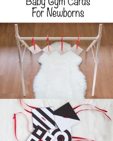 Free Printable High Contast Baby Gym Mobile