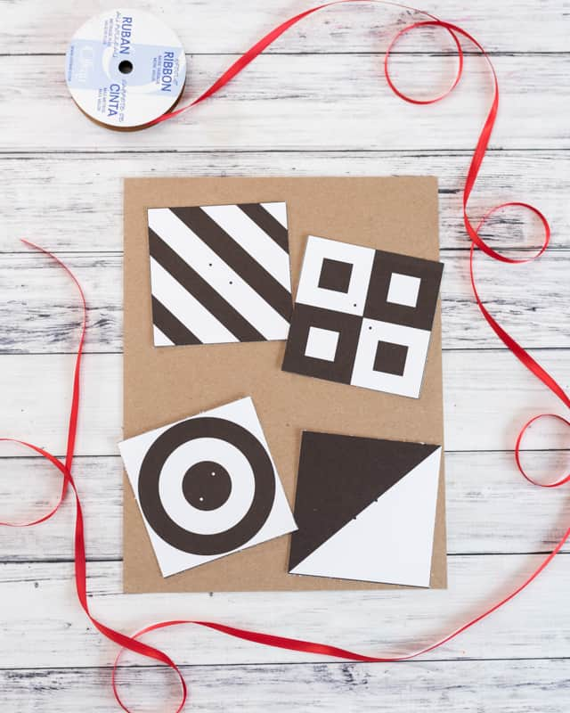 cut out high contrast baby gym cards