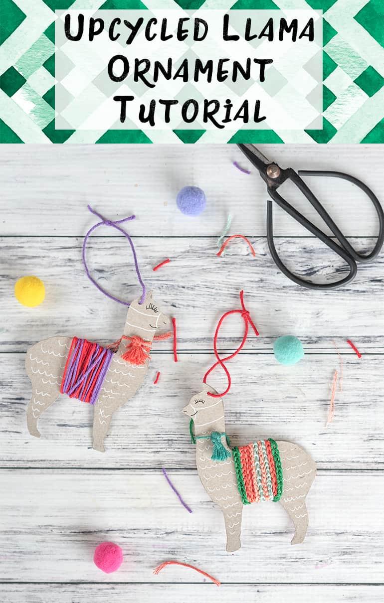 upcycled llama ornament tutorial