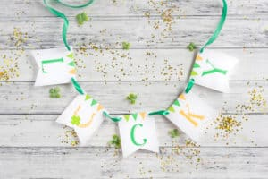 Lucky Printable Gratitude Banner for St. Patrick's Day