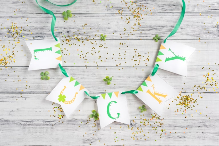 Lucky Printable Gratitude Banner For St Patrick S Day