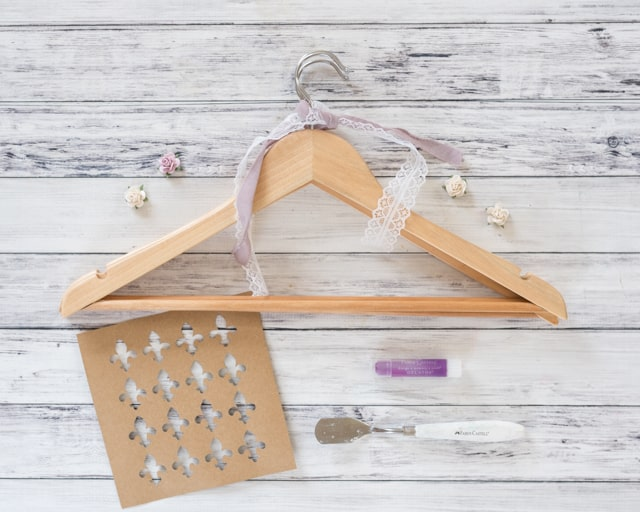 materials for diy shabby chic hangers