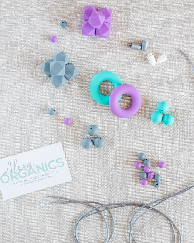 materials for making silicone teething necklaces