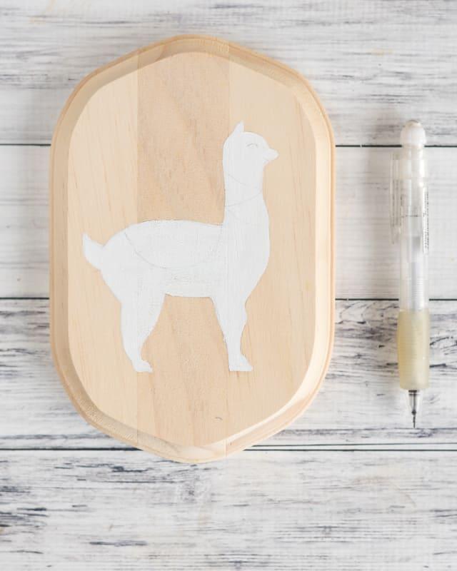 pencil details on alpaca
