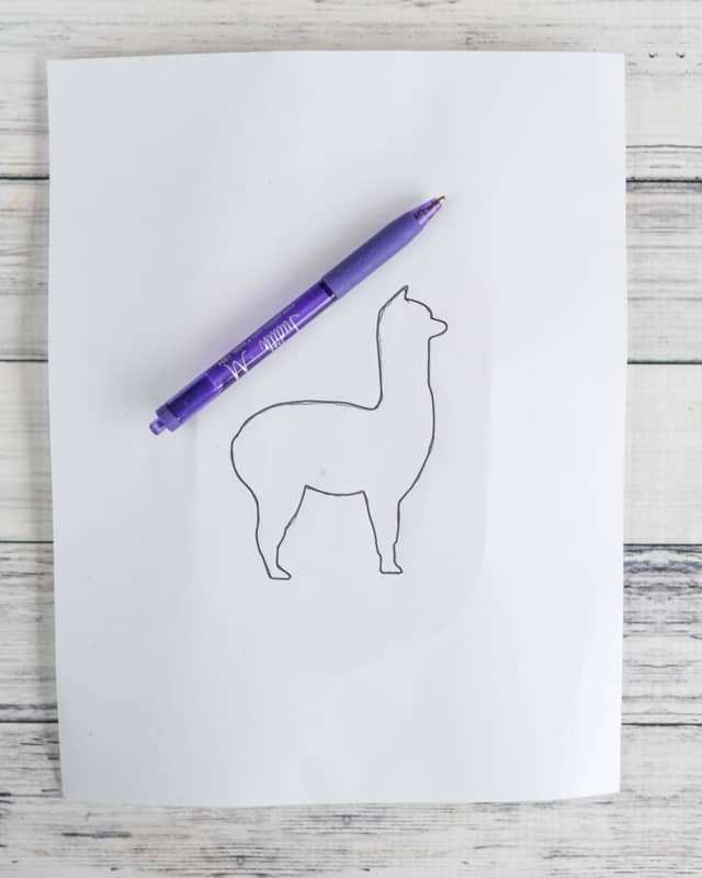 trace over pattern with a pen