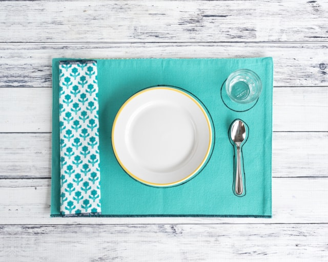 easy DIY Montessori infant placemat