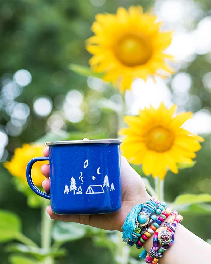 DIY enamel camp mug tutorial - easy and so cute!