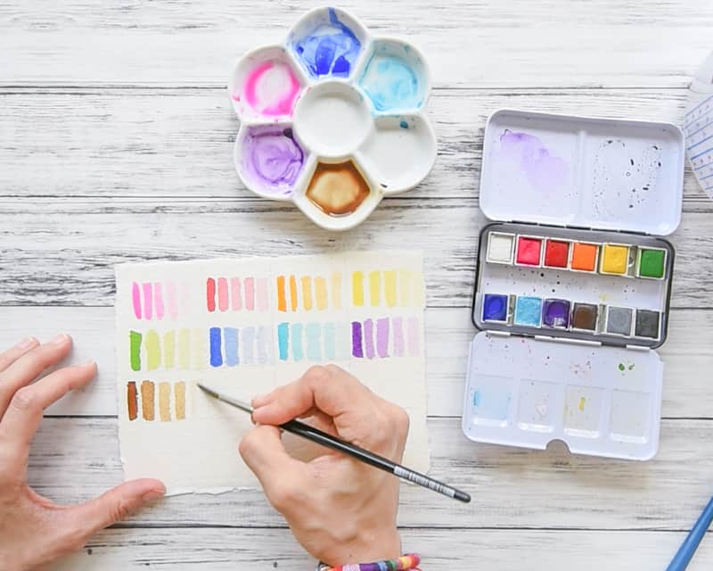 How to paint transparency swatches class on Skillshare - stop by for a free Skillshare link!