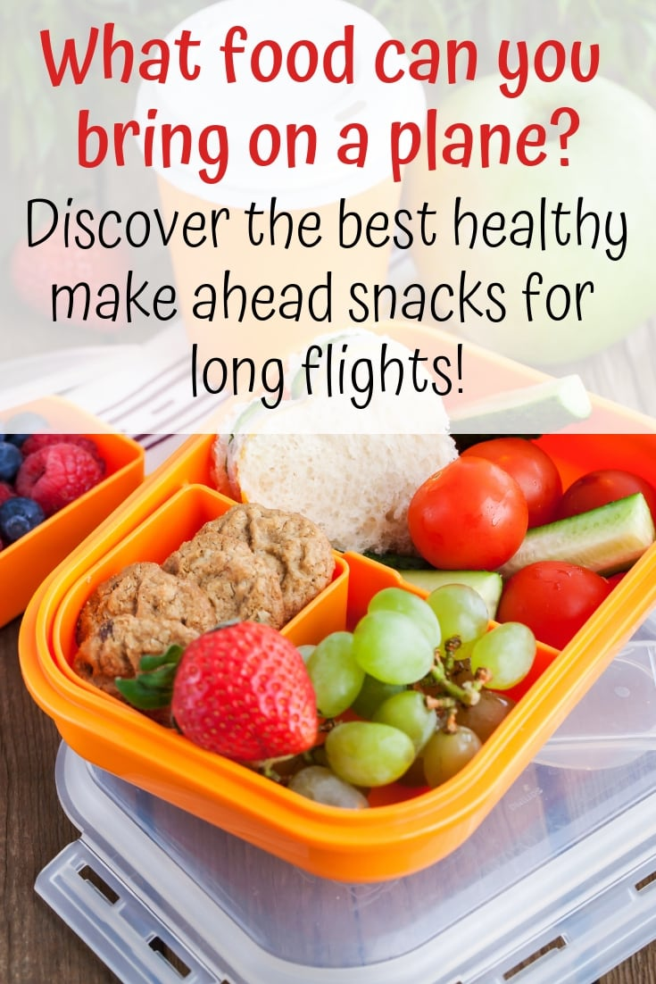 What food can you bring on a plane? Discover the best healthy make ahead snacks for long flights!