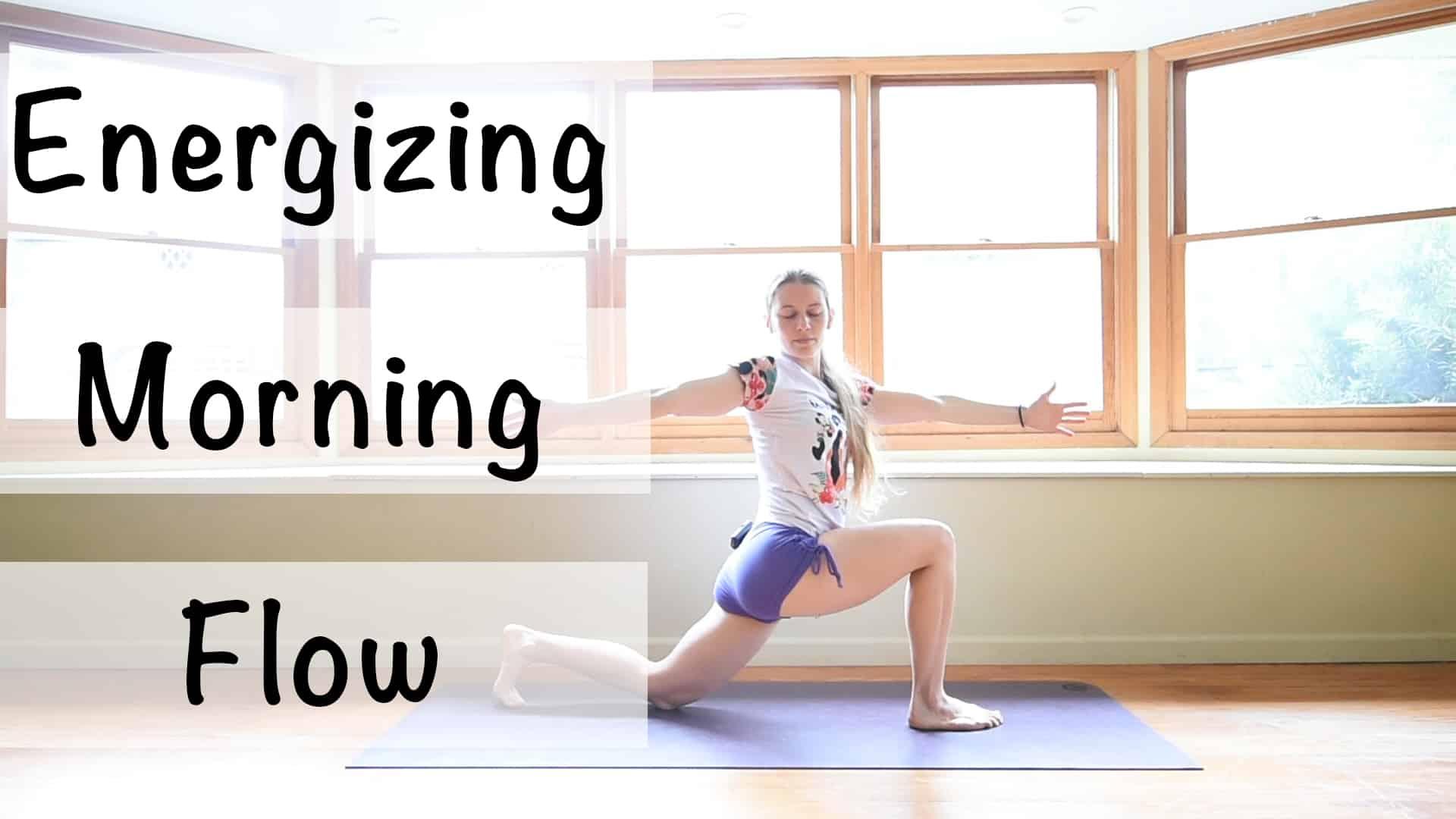 energizing morning flow yoga class