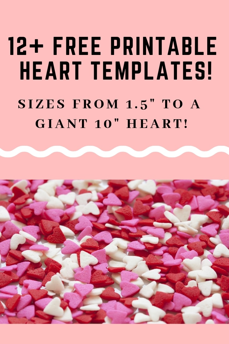 12+ free printable heart templates up to 10!