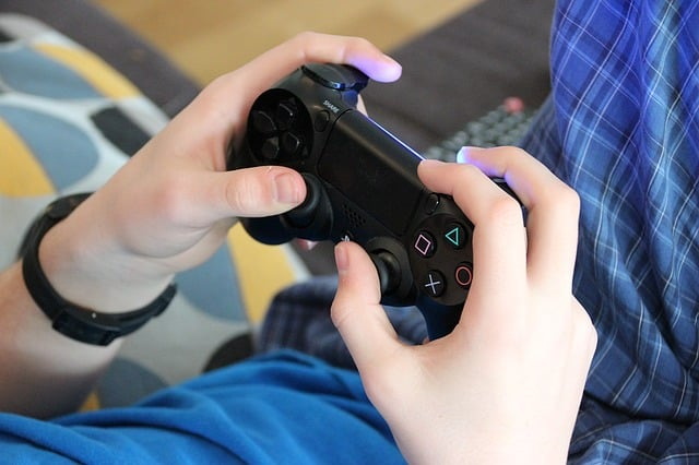 child playing a video game