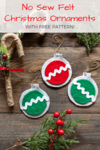 easy new sew felt christmas ornaments with free printable pattern