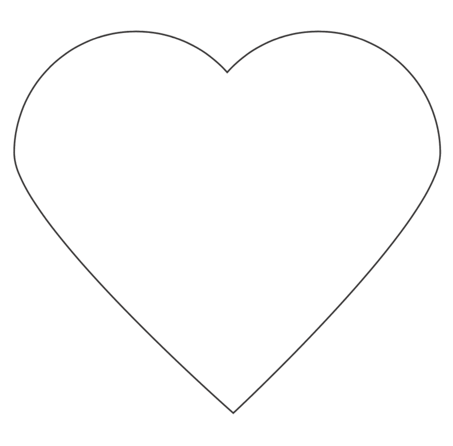 large heart free printable template
