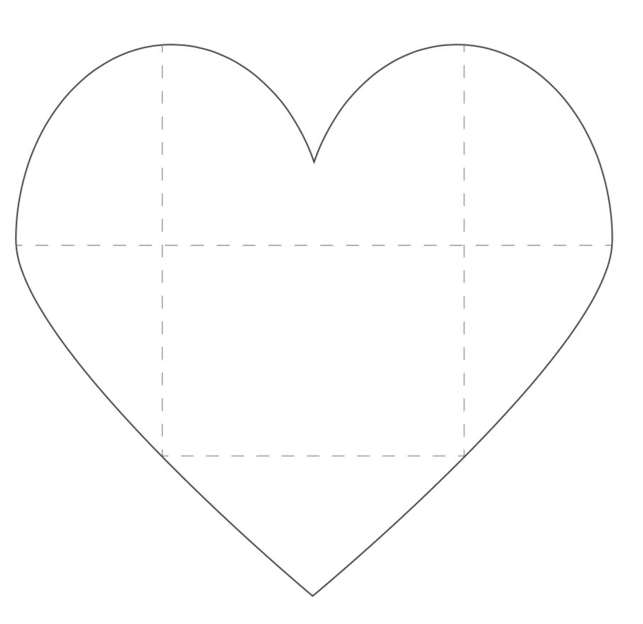large printable heart envelope