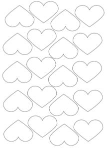 small printable hearts