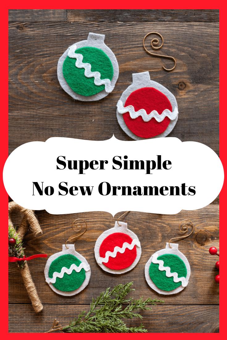 super simple no sew ornaments