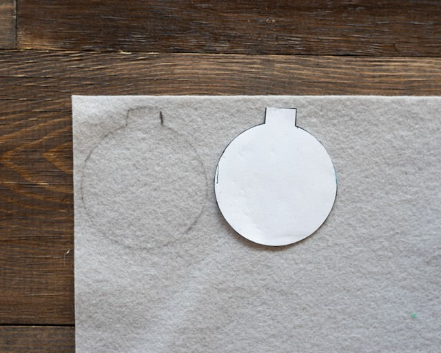 trace ornament pattern on to felt