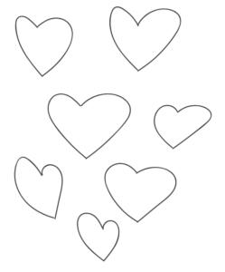 whimsical hand drawn hearts